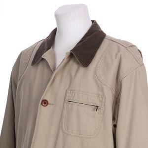 LL Bean Hip Length Barn Coat Field Jacket Lined